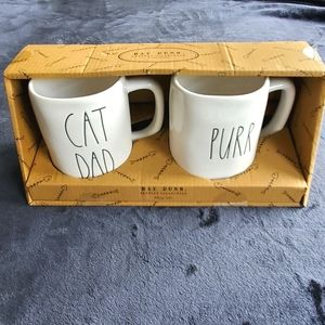 RAE DUNN | Cat Dad and Purr Mug Set